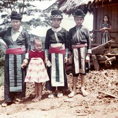 White Hmong mother and three daughters in Houa Khong Province