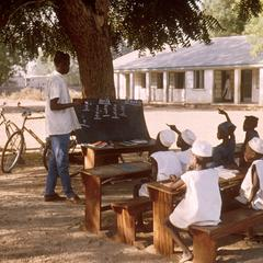 Elementary School Class Being Conducted Outdoors in Northern Nigeria