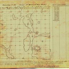 [Public Land Survey System map: Wisconsin Township 12 North, Range 19 East]
