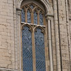 Peterborough Cathedral south transept tribune window