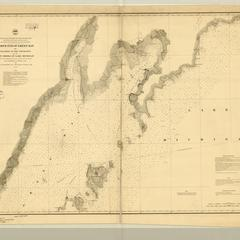 North end of Green Bay, the islands at the entrance and the N.W. shore of Lake Michigan