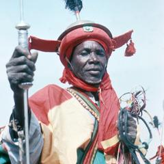 A Mounted Guard of the Emir Parading in the Big Sallah Celebration