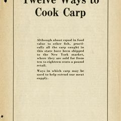 Twelve ways to cook carp