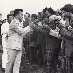 The Governor of Attapu Province visits the village of Houei Kong in Attapu province