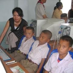 Boys using computers