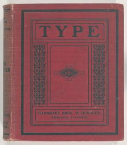 Specimen book of type