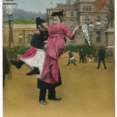 Slow march constable, suffrage postcard