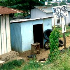 A Tire Repair Shop in Libreville