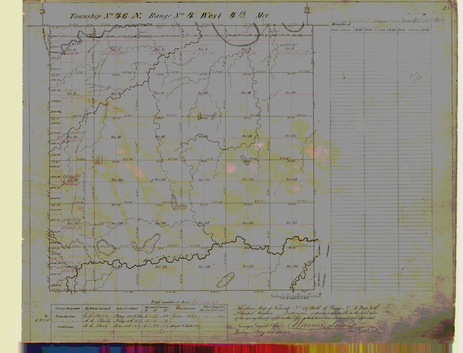 [Public Land Survey System map: Wisconsin Township 46 North, Range 04 West]