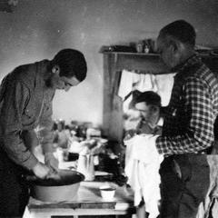 Starker, Ray Roark, and Aldo at Arkansas shack