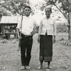 Laven village chief with wife in Attapu Province