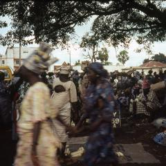People gathering at Ilesa market
