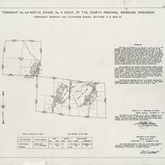 [Public Land Survey System map: Wisconsin Township 43 North, Range 04 West]
