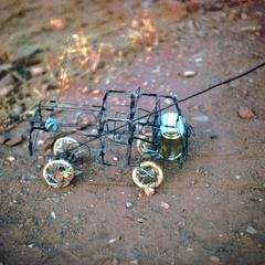 A Homemade Toy, a Wire Automobile