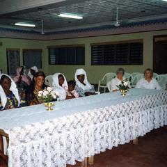 Women's table at Fareeda's wedding reception