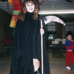 Grim Reaper at Halloween party