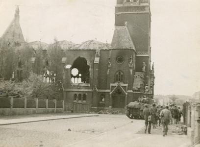 Bombed out cathedral in Magdeburg