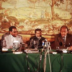Sam Nujoma at SWAPO Press Conference