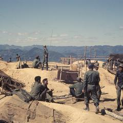 Soldiers at an airstrip