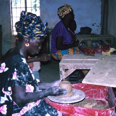 Women Making Pottery
