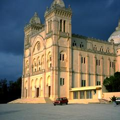 St Louis Cathedral Built in 1890 on the Ruins of Punic Carthage
