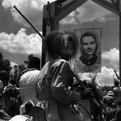 Oromo in Ceremonial Warrior Gear on Horseback at Celebration