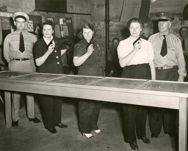 Women at pistol practice