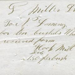 Bill from Nathaniel Dominy VII to G. Miller, 1860