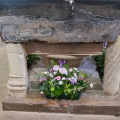 Iffley St Mary Church baptismal font