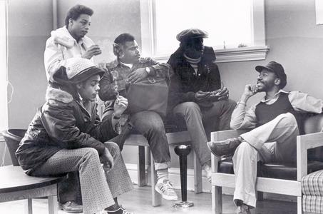 Students in the Afro Center lounge