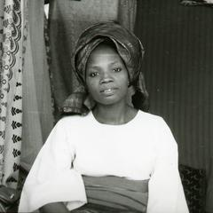 Mrs. Oluyemi in her shop