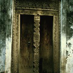 Carved Front Door on Zanzibar