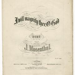 I will magnify thee, O God