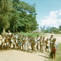 School Children at Recess in Selenge Fishing Village