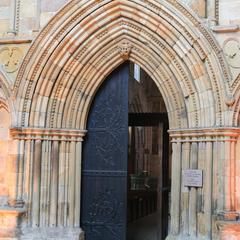 Bolton Priory exterior west entrance