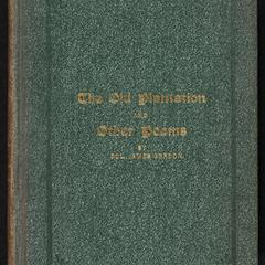 The old plantation and other poems