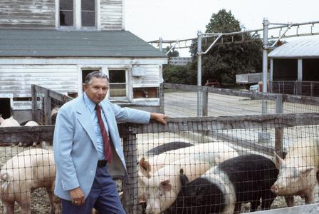 Carl Hirschinger and swine