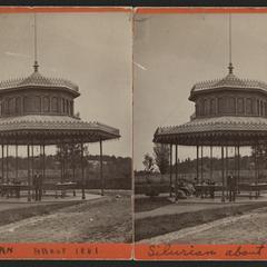 Silurian Spring, Waukesha, spring house 1881
