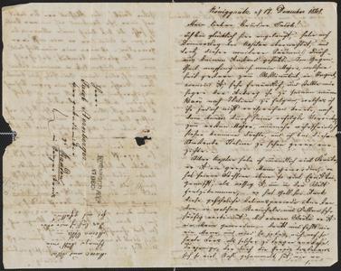 [Letter from Ludwig Sternberger to his brother, Jakob Sternberger, December 17, 1848]