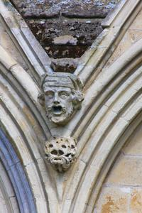 Salisbury Cathedral west facade detail