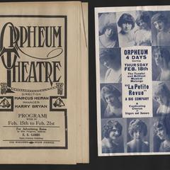 Orpheum Theatre programs