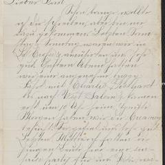 [Letter from Hanna Sternberger to her brother Karl Sternberger, July 21, 1885]