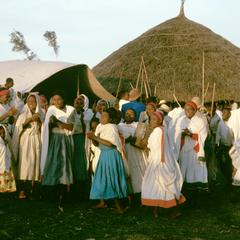 Women Chanting Traditional Abuse at Bride