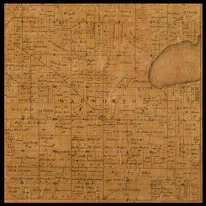 Walworth Township plat map, 1857