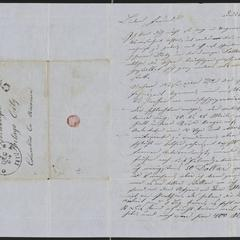 [Letter from Anton Klenert to Jakob Sternberger, December 25, 1852]