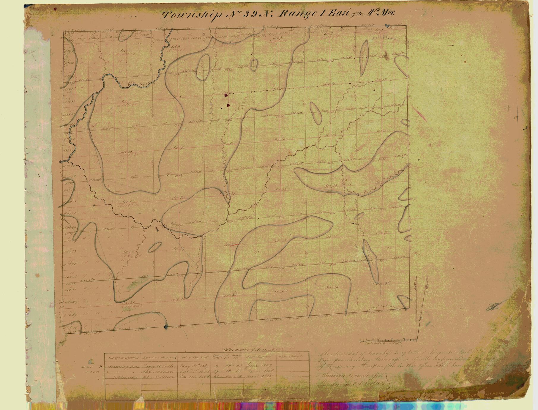[Public Land Survey System map: Wisconsin Township 39 North, Range 01 East]