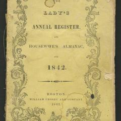 The Lady's annual register, and housewife's almanac, for 1842
