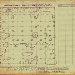 [Public Land Survey System map: Wisconsin Township 19 North, Range 22 East]