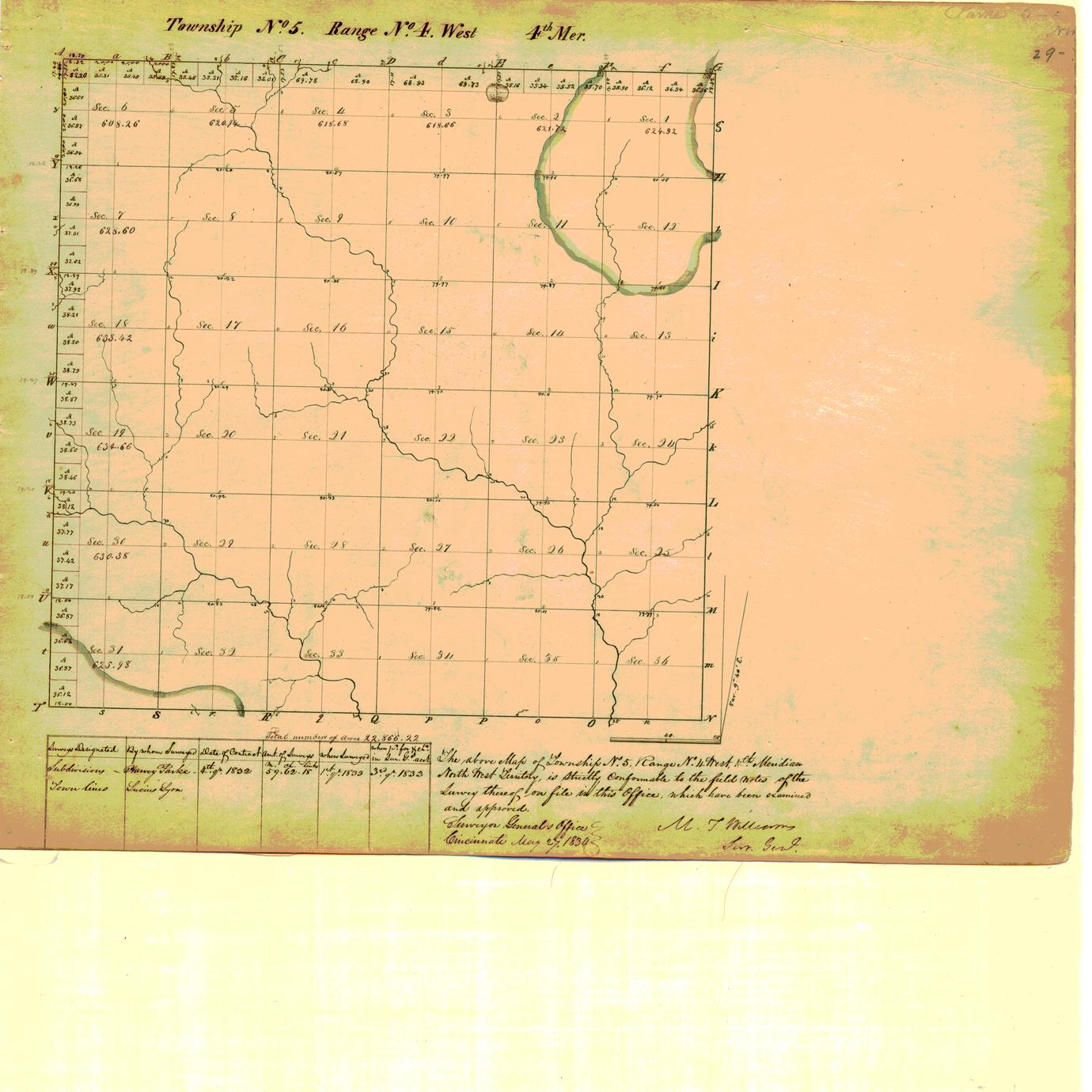 [Public Land Survey System map: Wisconsin Township 05 North, Range 04 West]