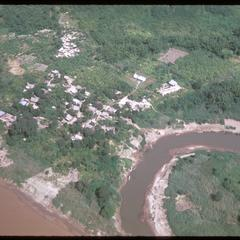Air views--return to Huayxay with Mekong River